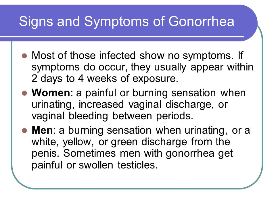 Gonorrhea Treatment and Care