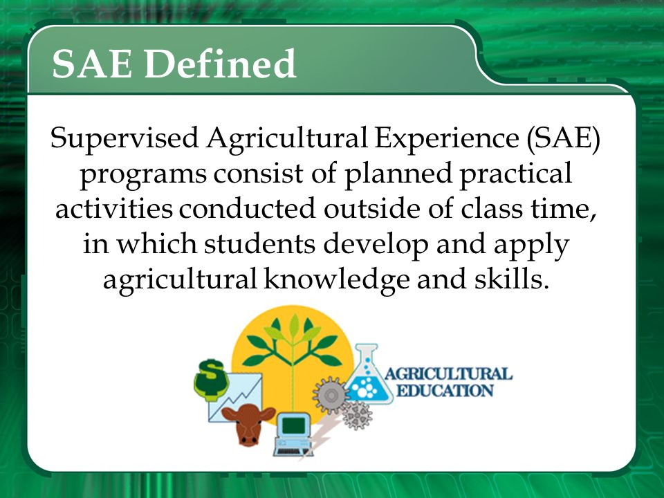 SAE Defined