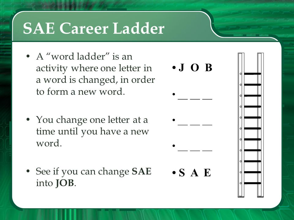 SAE Career Ladder • J O B • S A E