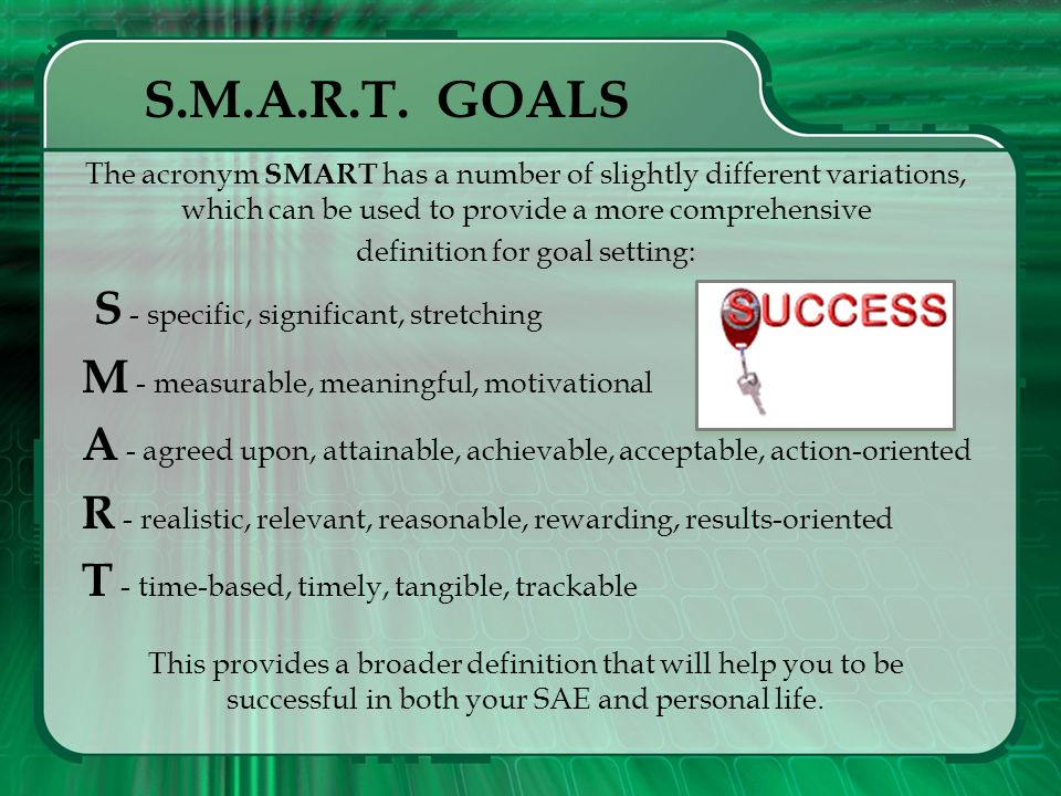 definition for goal setting: