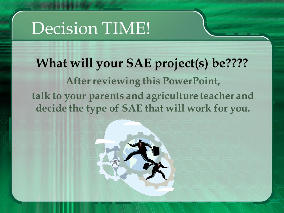 What will your SAE project(s) be