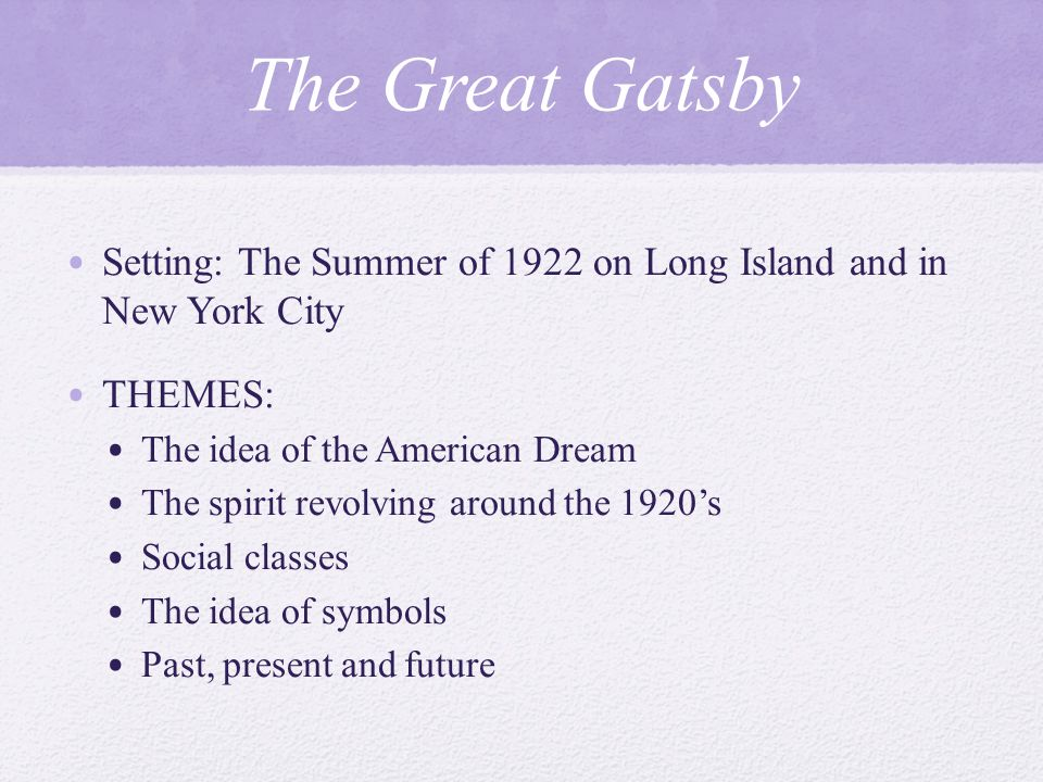the facts about the american dream as described in the great gatsby