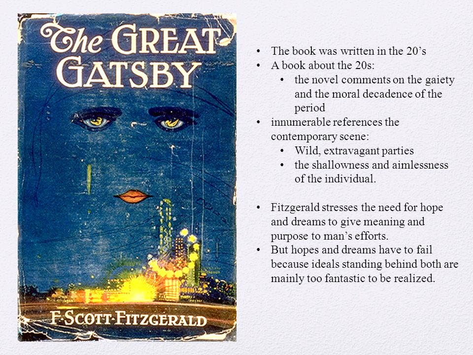 The portrayal of materialism in fitzgeralds novel the great gatsby