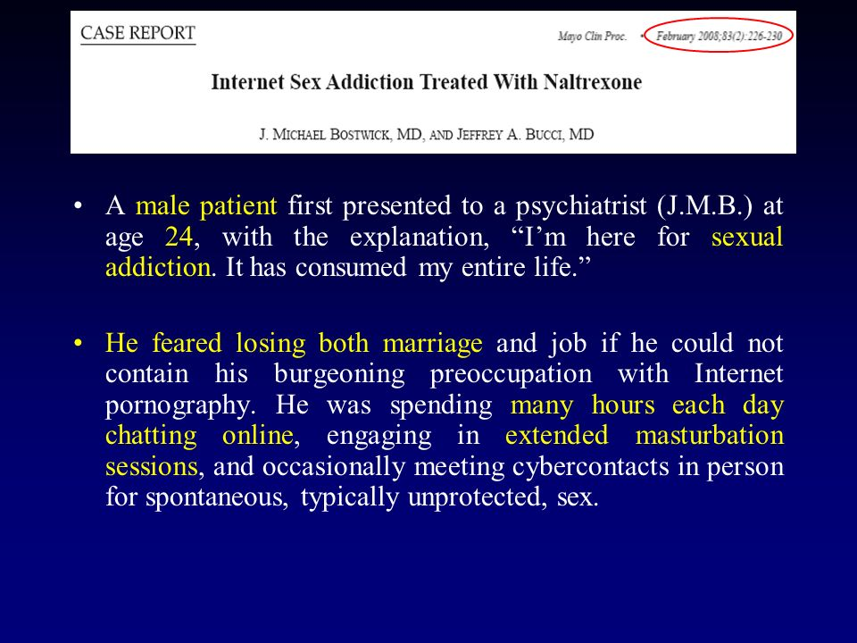 A male patient first presented to a psychiatrist (J. M. B