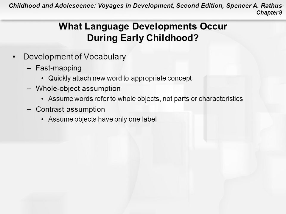developments during early childhood Brain development from birth to age 5, a child's brain develops more than at  any other time in life and early brain development has a lasting impact on a  child's.
