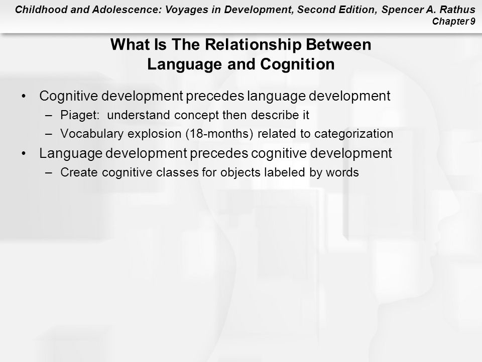 explain the relationship between learning and cognition