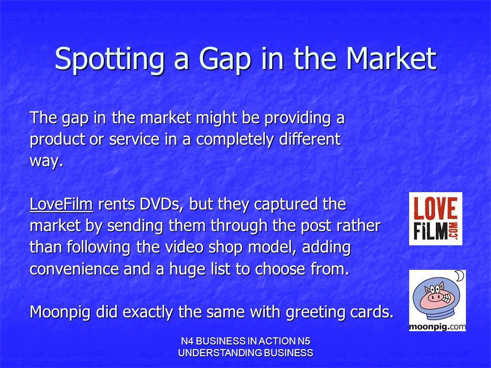 Spotting a Gap in the Market