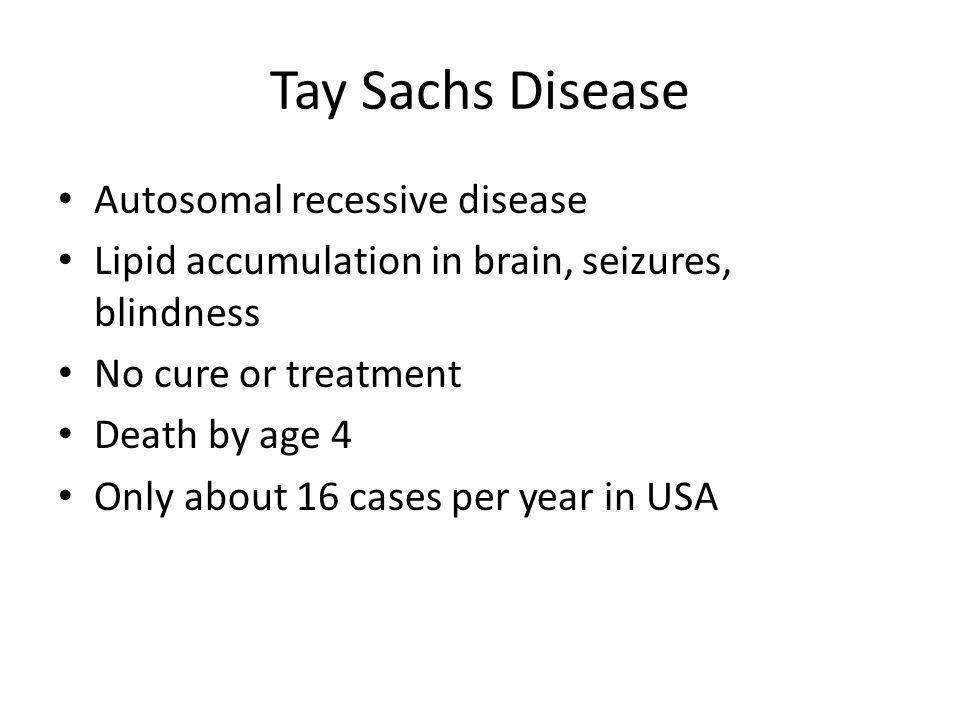 an overview of tay sachs disease in children and the death in five years