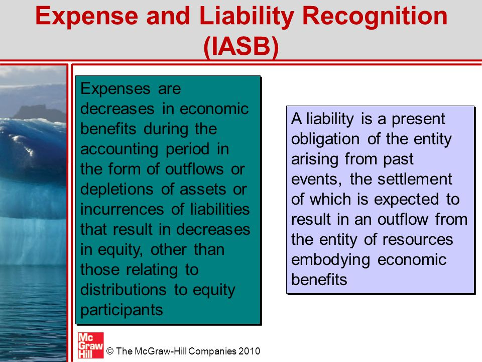 Expense and Liability Recognition (IASB)