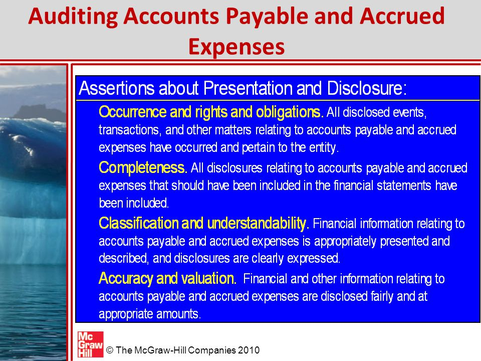 Auditing Accounts Payable and Accrued Expenses