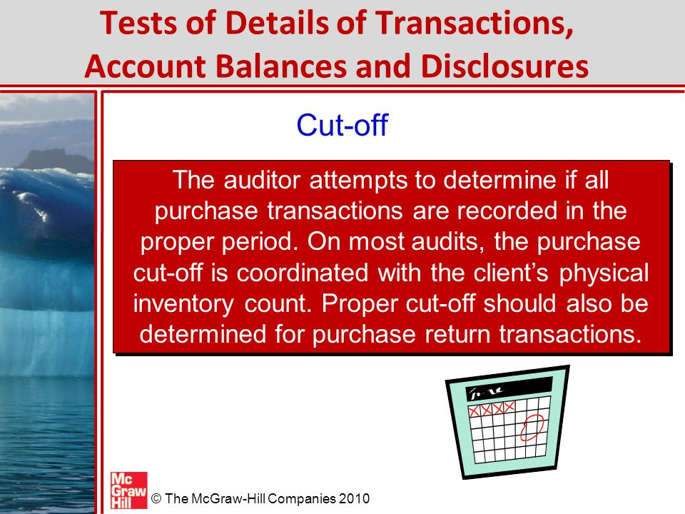 Tests of Details of Transactions, Account Balances and Disclosures