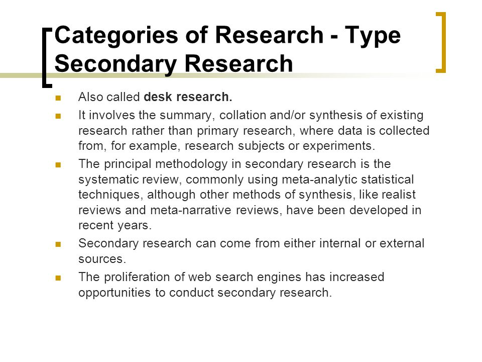 secondary research methodology thesis Data analysis methods in the absence of primary data collection can involve discussing common patterns, as well as, controversies within secondary data directly related to the research area my e-book, the ultimate guide to writing a dissertation in business studies: a step by step assistance offers practical assistance to complete a .