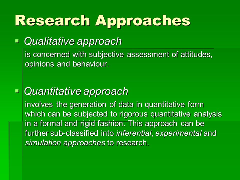 quantitative research approach I am a little bit confused about content analysis till now i thought that is included only in qualitative research approach however, i realized that some authors include it in quantitative approach or in both qualitative and quantitative (mixed-methods) what is your opinion moreover, can we use .