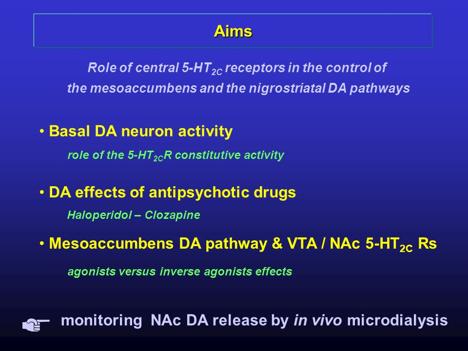 Aims Basal DA neuron activity DA effects of antipsychotic drugs