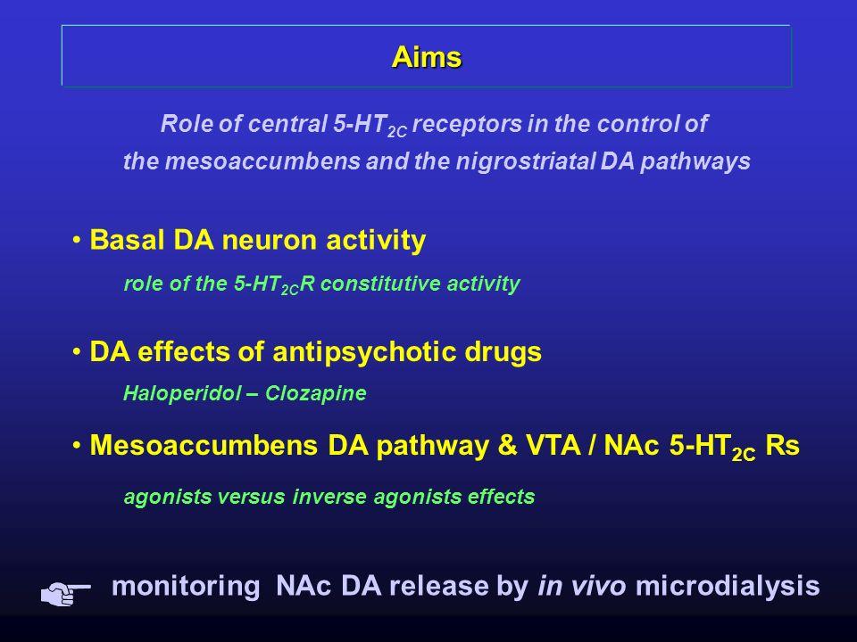 Aims Basal DA neuron activity DA effects of antipsychotic drugs
