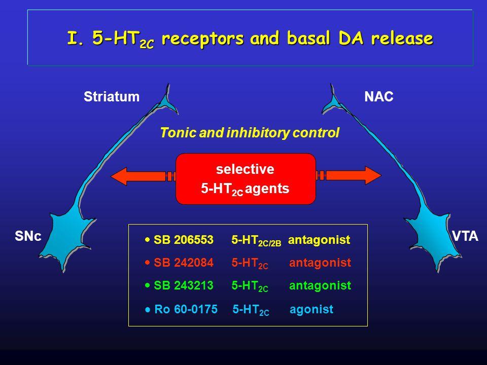 I. 5-HT2C receptors and basal DA release