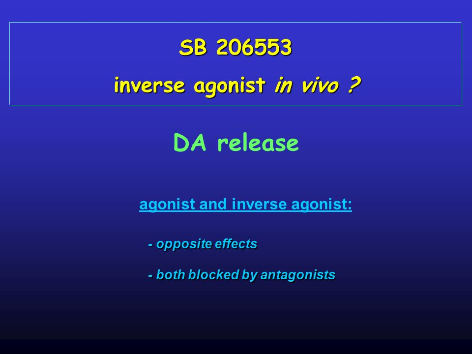 inverse agonist in vivo