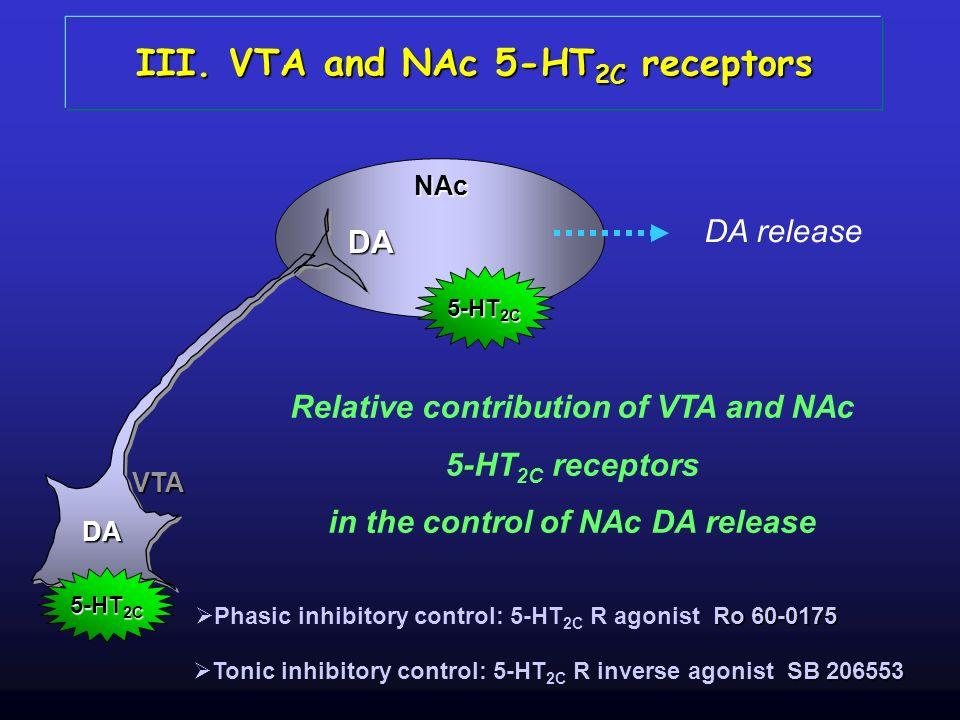 III. VTA and NAc 5-HT2C receptors