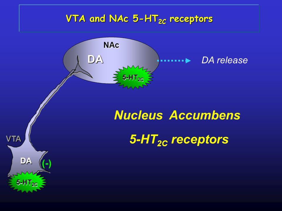 VTA and NAc 5-HT2C receptors