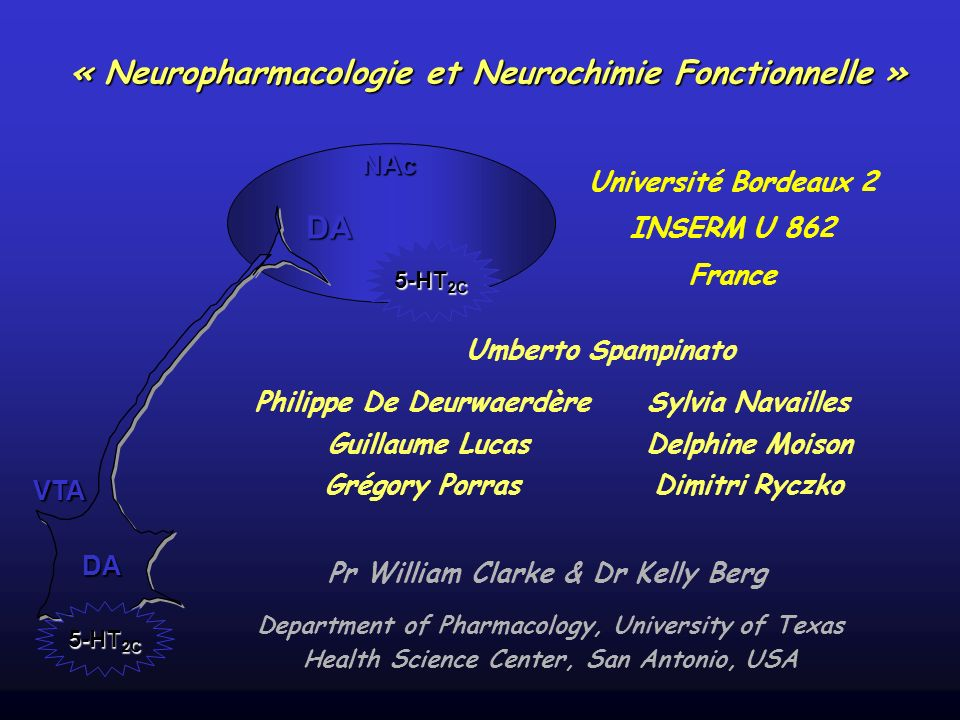 « Neuropharmacologie et Neurochimie Fonctionnelle »