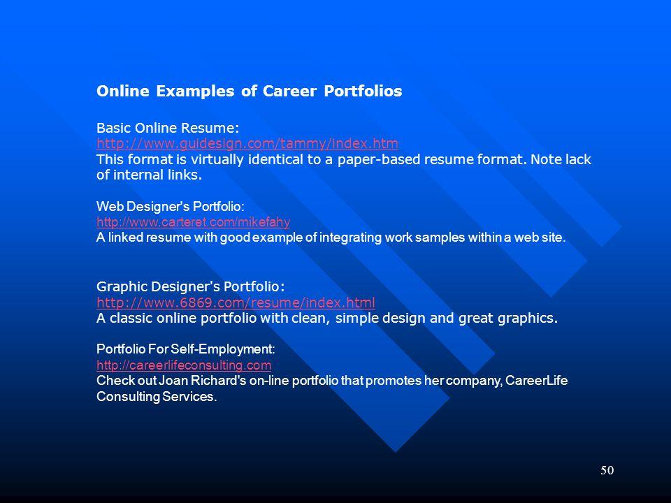 career portfolios examples Idealvistalistco