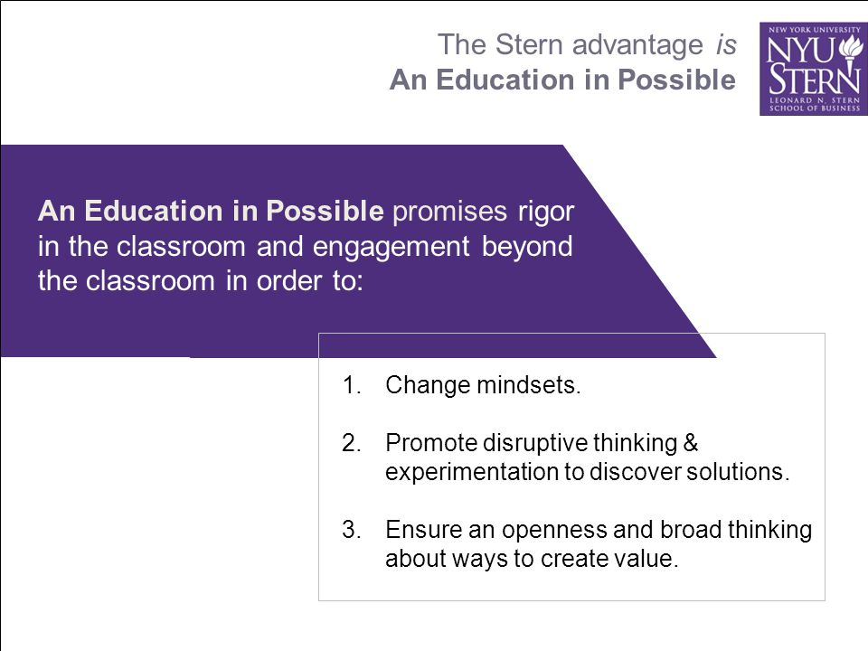 the nyu stern story the nyu stern story. - ppt download, Modern powerpoint