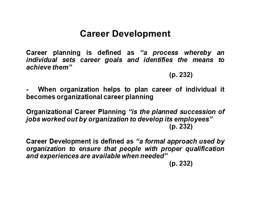 TRAINING, DEVELOPMENT AND CAREER MANAGEMENT - ppt download