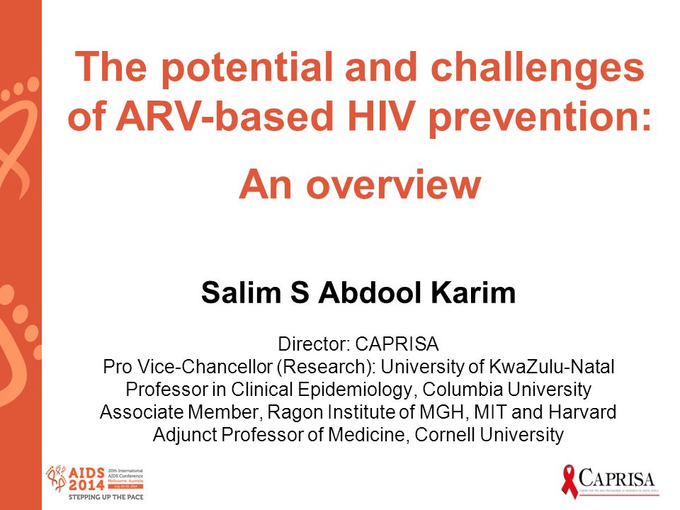 The potential and challenges of ARV-based HIV prevention: An overview