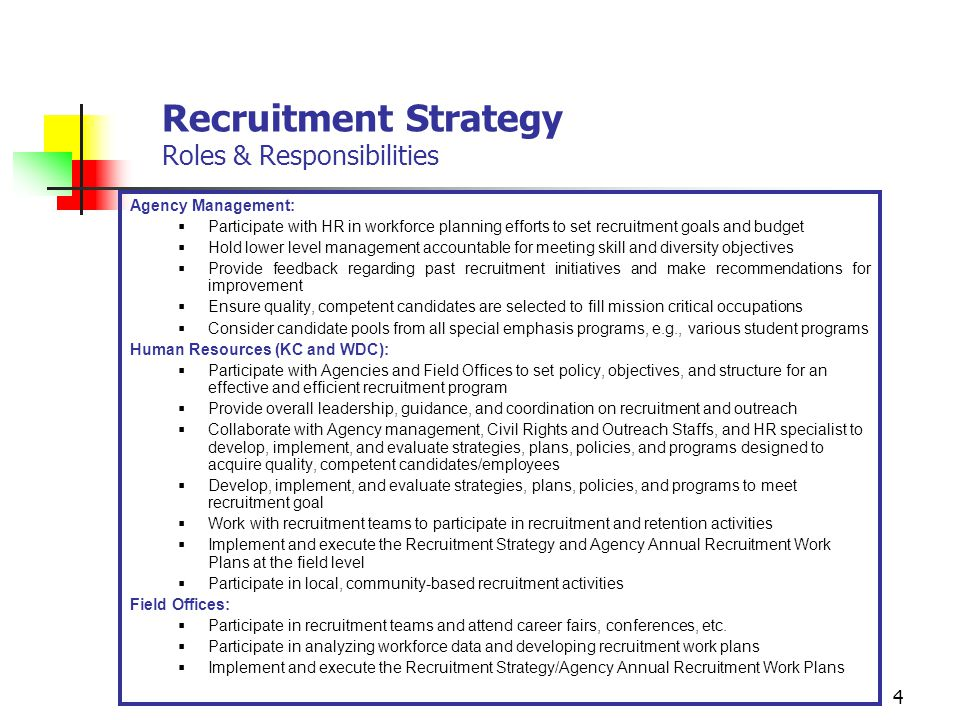 Strategic Management of Human Capital Recruitment Strategy - ppt ...