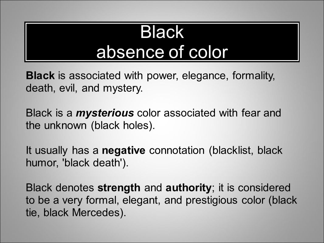Understanding and using color ppt video online download 12 black biocorpaavc Image collections