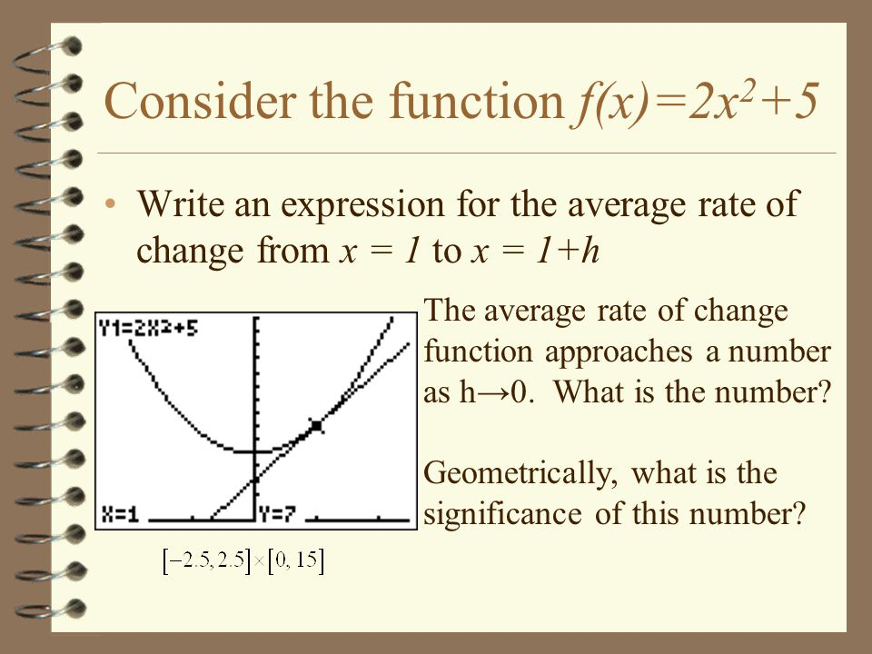 Worked example: average rate of change from table