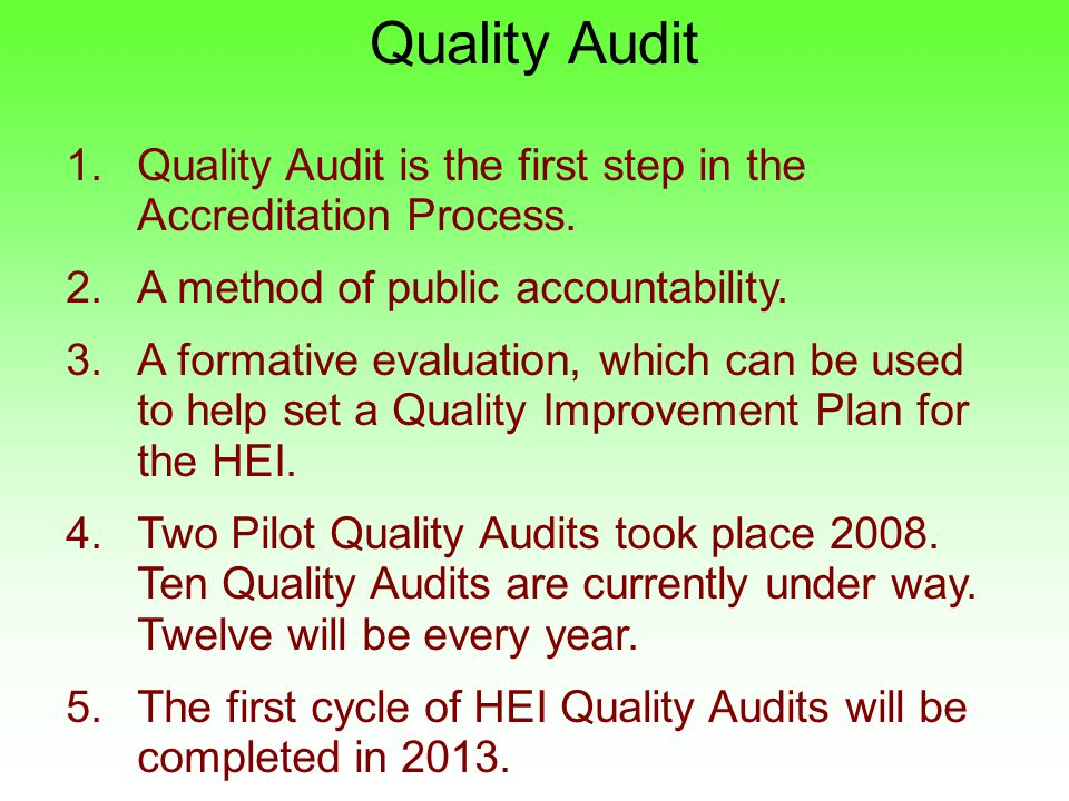 accreditation audit 2 essay Cia exam syllabus, part 1 - internal audit basics 125 questions | 25 hours (150 minutes) the cia exam part 1 topics tested include aspects of mandatory guidance from the ippf internal control and risk concepts as well as tools and techniques for conducting internal audit engagements.