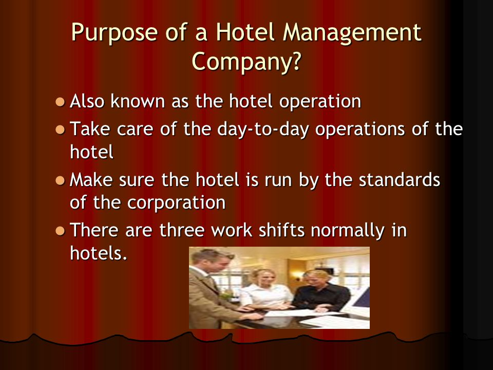 Hospitality Operations - ppt video online download