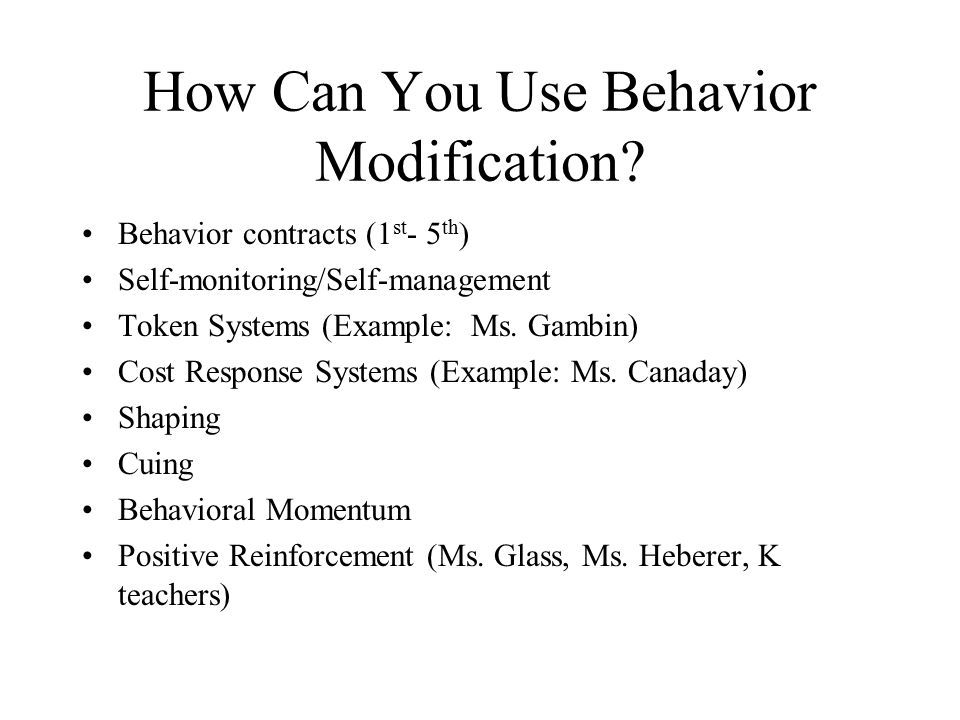 behavior modification parent communication ppt  how can you use behavior modification