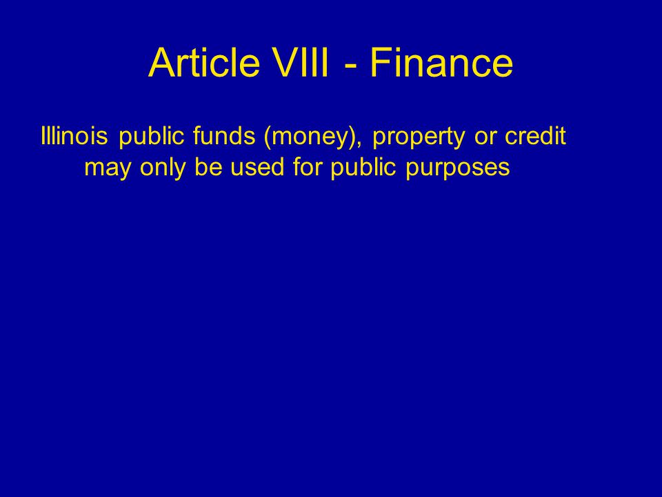 Illinois constitution unit ppt video online download for Loan for land only
