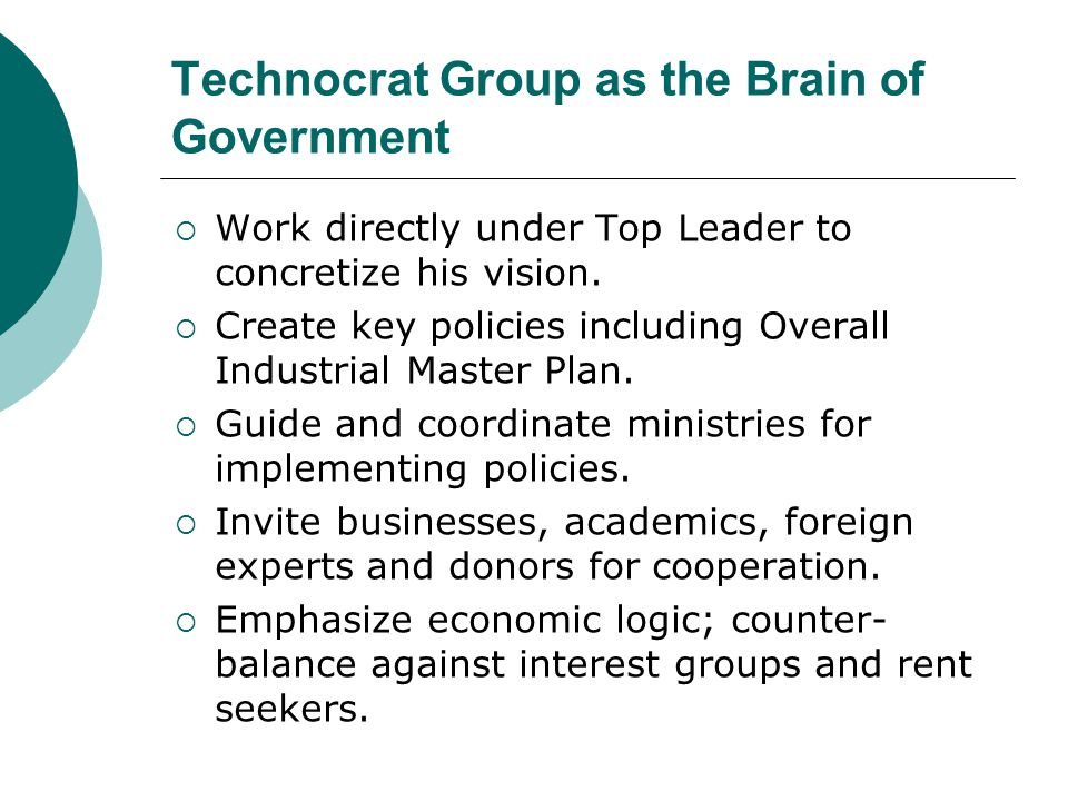 Technocrat Group as the Brain of Government