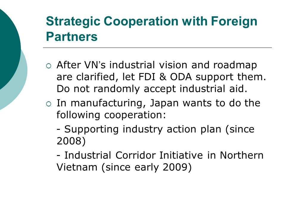 Strategic Cooperation with Foreign Partners