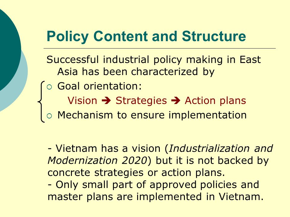 Policy Content and Structure