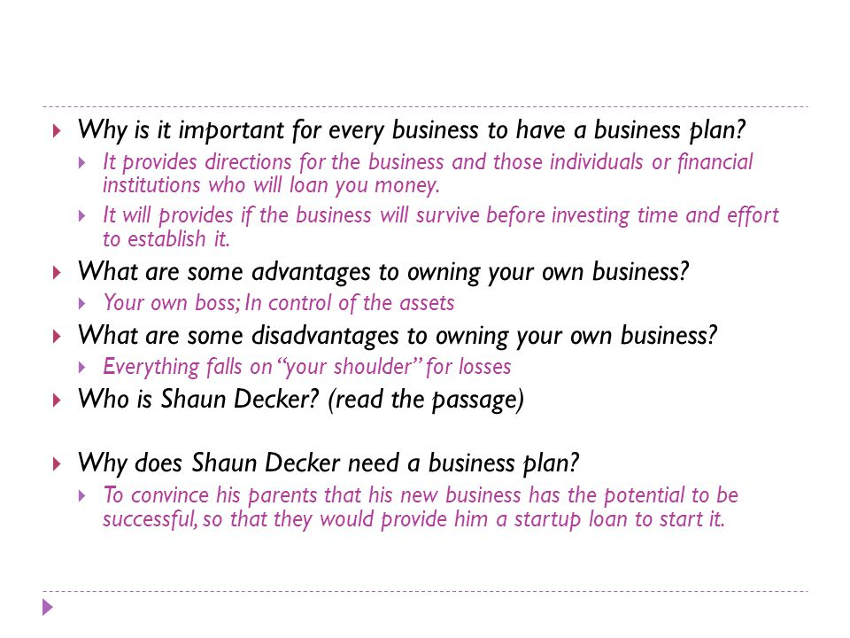 why do investors need a business plan