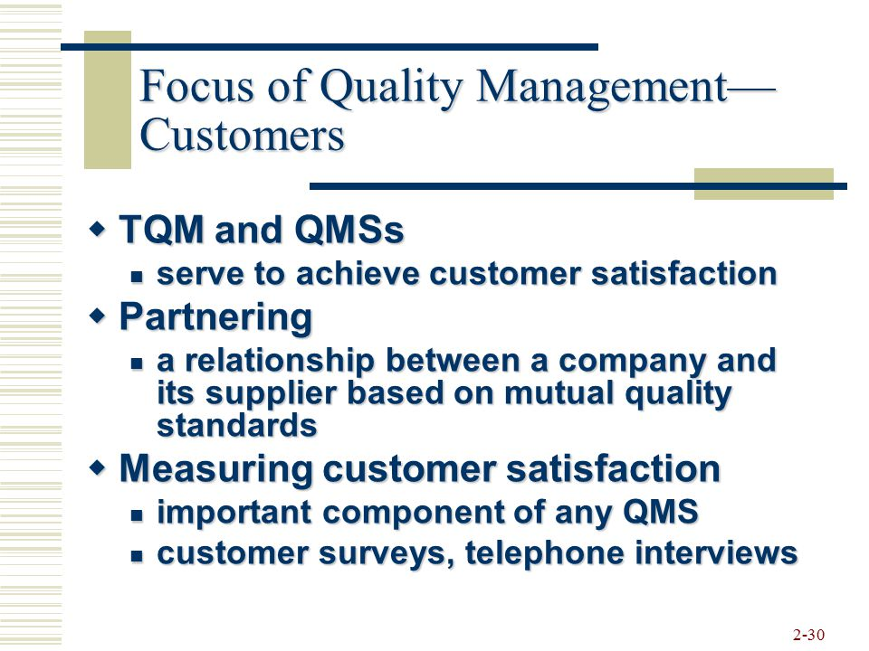 2 strategic quality management and customer satisfaction Clause 51,clause 52,clause 53,management commitment,customer  they must establish strategic quality management  for clause 52, review customer satisfaction.