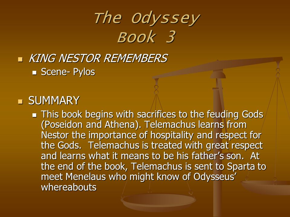 Relevance of the odyssey in the