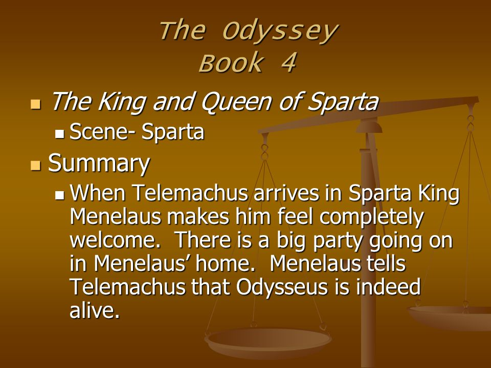 """the journey of odysseus and telemachos in homers the odyssey 3 the odyssey essay the odyssey - 1183 words the women in his world homer's timeless greek drama, """"the odyssey"""" recounts the story of odysseus, king of ithaca, as he struggles through countless obstacles in his journey to return to his homeland, his wife penelope, and his son telemachus."""