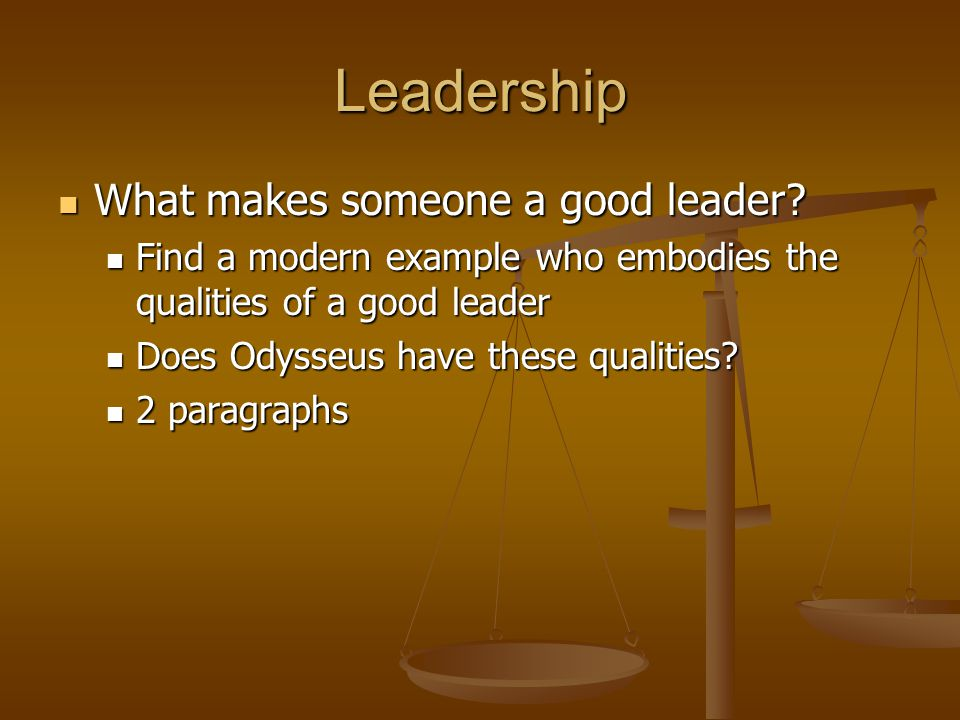 odysseus a good leader The new topic was odysseus a good leader is one of the most popular assignments among students' documents if you are stuck with writing or missing ideas, scroll down and find inspiration in the best samples new topic was odysseus a good leader is quite a rare and popular topic for writing an essay, but it certainly is in our database.