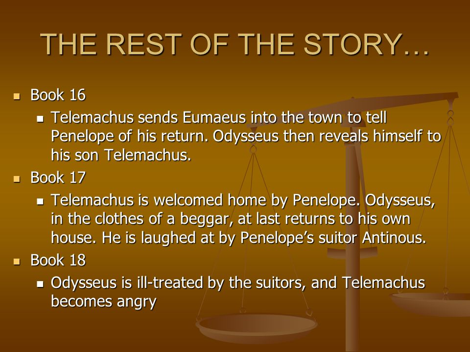 the telemachus odyssey and his emotional strength in the odyssey by homer Need help with book 8 in homer's the odyssey check out our  odysseus gets  his fill of praise when he displays his strength but even in his quest for athletic.