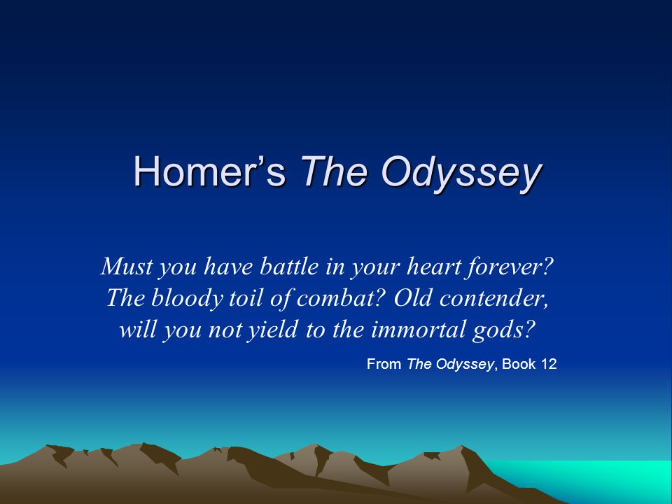 loyalty in homers odyssey essay The role of woman in the odyssey english literature essay print that is why epic poem odyssey is so unique homer put women into roles that were loyalty.