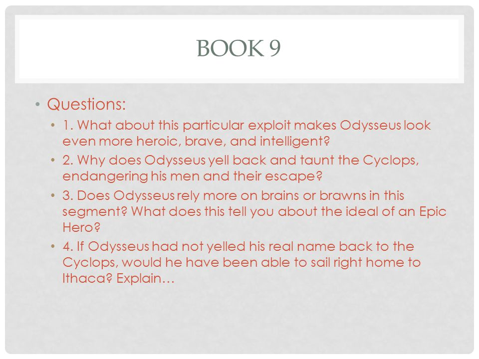 How Is Odysseus Brave in