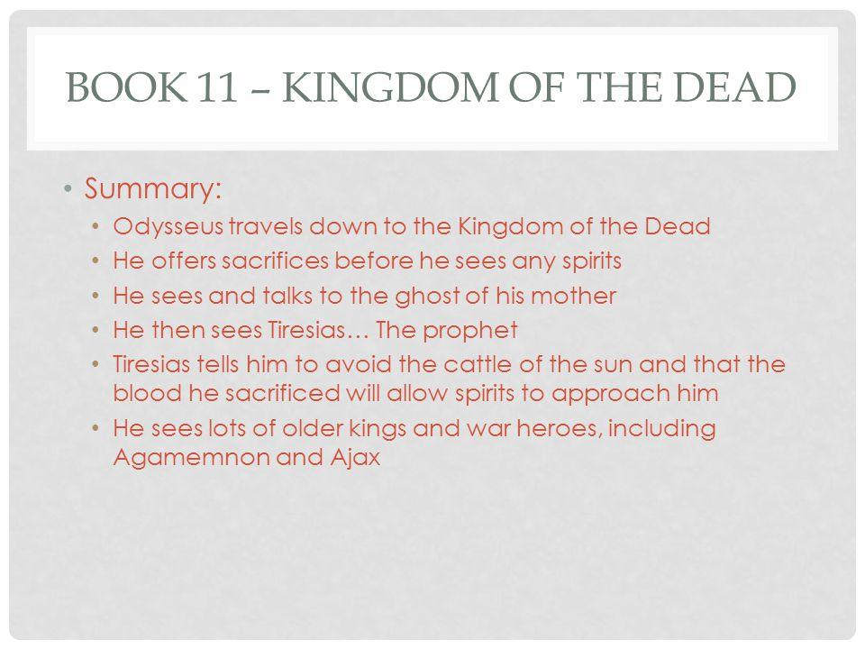 the odyssey book 11 short summary