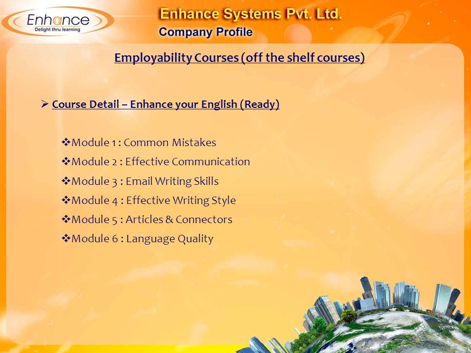 Employability Courses (off the shelf courses)