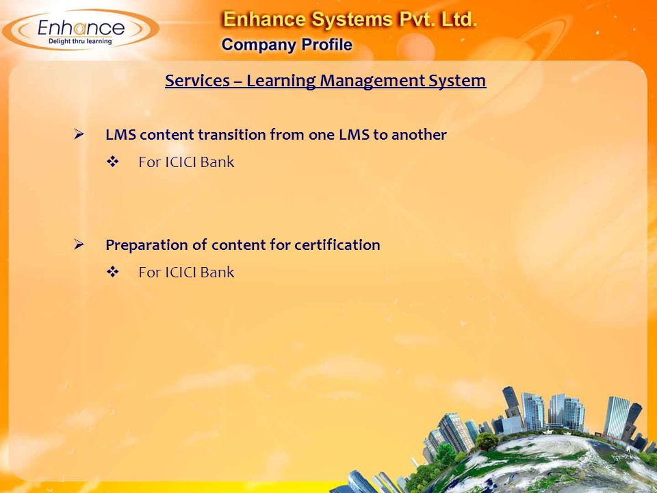 Services – Learning Management System