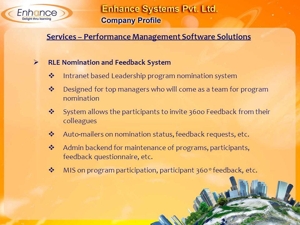 Services – Performance Management Software Solutions